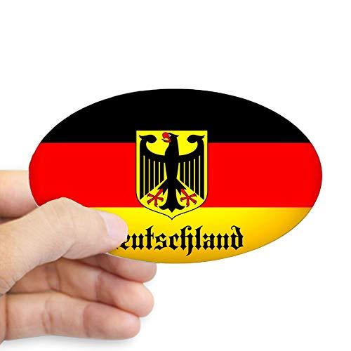 CafePress Deutschland Flag Coat of Arms Sticker Oval Bumper Sticker, Euro Oval Car Decal