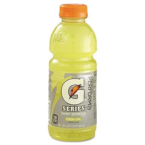 Gatorade Thirst Quencher, Lemon-Lime, 20 oz Bottle, 24/Carton - 24 bottles of sports drink.