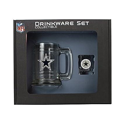 Amazon Roy Rose Gifts Nfl Dallas Cowboys Shot Glass And Mug