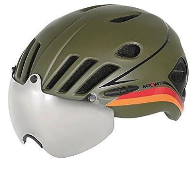 Suomy casque route Vision Vert militaire/noir taille l (Casques VTT et route))