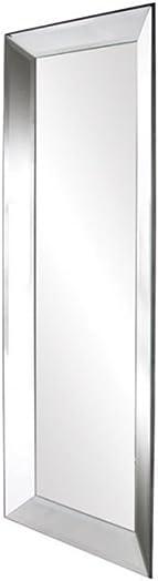 Howard Elliott Vogue Inward Rectangular Hanging Wall Or Vanity Mirror, Mirrored Frame, 24 x 72 Inch
