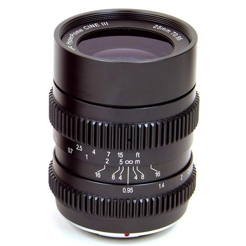 SLR Magic 25mm T0.95 Hyperprime Cine III Lens with 50mm Micro Four Third Mount, 0.20m Minimum Focusing Distance by SLR Magic
