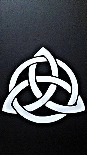 (Celtic Knot Infinity Eternity Vinyl Decal Sticker|WHITE|Cars Trucks Vans SUV Laptops Wall Art|5