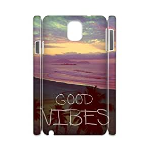 Good Vibes Unique Design 3D Cover Case for Samsung Galaxy Note 3 N9000,custom cover case ygtg583401