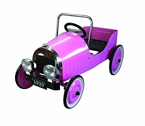 Great Gizmos Pink Classic Pedal Car (Wooden Car Pedal)