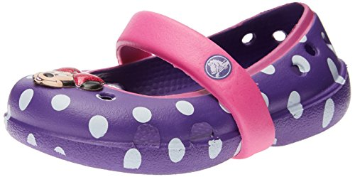 Crocs Kids 15264 Keeley Minnie Mary Jane (Toddler/Little Kid/Big Kid),Neon Purple/Neon Magenta,6 M US Big Kid by Crocs