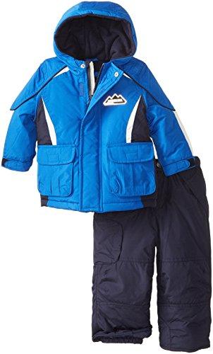 London Fog Baby Boys' Boys' Colorblock Snowsuit, Blue, 12 Months