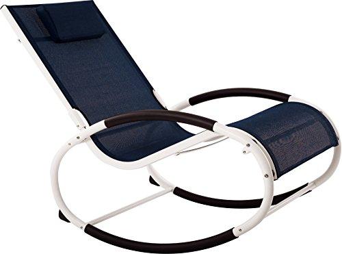 Vivere WAVEROCK1-NW Aluminum Rocking Chair, Rocker, Navy by Vivere
