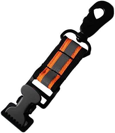 Firefighter Glove Strap Glove Holder with Glove Leash Swivel Snap Hook,Reflective Hi-Vis Lime for Quick Access All Style Find in Melo Tough 2 Set Alligator Clip-Orange Color