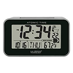 La Crosse Technology 617-1270 Atomic Digital Alarm Clock, Black