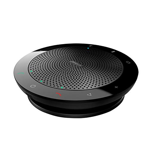 Jabra Speak 510 Speaker Phone – Portable Conference Speaker with USB and Bluetooth – Connect with Laptops, Smartphones and Tablets