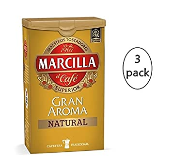 Amazon.com : Marcilla Gran Aroma Natural Ground Coffee 250gr ...