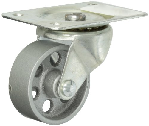 Shepherd-General-Duty-Series-2-12-Diameter-Steel-Wheel-Single-Race-Swivel-Caster-3-78-Length-x-2-34-Width-Plate-175-lbs-Capacity-Zinc-Finish