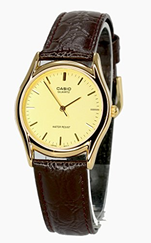 Casio Brown Leather Men's watch #MTP1094Q-9A (Watch Casio Leather Brown)