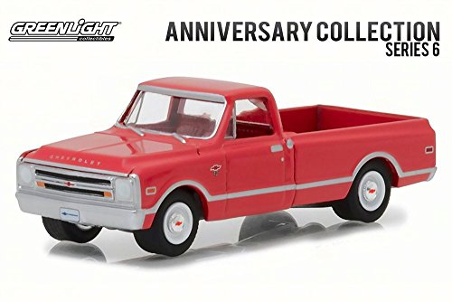 Greenlight 1968 Chevy C-10 100th Anniversary of Chevy Truck, Red 27940B/48 - 1/64 Scale Diecast Model Toy (Chevy C10 Pickup Truck)