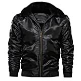 Henreiba Men's Jackets Winter Thick Motorcycle Coats Male Pilot Bomber Jacket