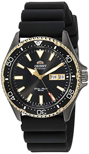 Orient Men's Kamasu Stainless Steel Japanese Automatic Diving Watch with Silicone Strap, Silver, 22 (Model: RA-AA0005B19A)