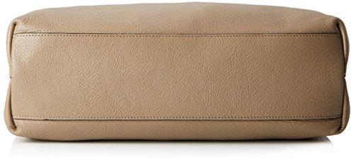Coccinelle Damen Celene Business Tasche, 12x33x35 cm Mehrfarbig (Grey_taupe, Beige)