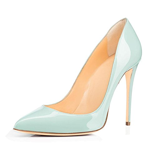 Hand Leather Pump SYY Shallow Pointed Shoes Mouth Patent 3 Women's Dress EEcq7Y