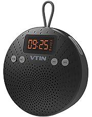VicTsing Altavoz Bluetooth, 5W Mini Altavoz Bluetooth V4.0 con Ventosa, Funciones de Radio FM, Despertador y Manos Libres. 10 Horas de Emisión Continua para Poder Llevarlo Donde Quieras.