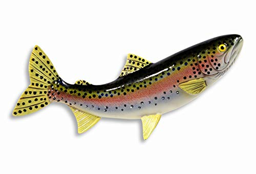 (LX Handpainted Rainbow Trout Statue Game Fish Replica 10