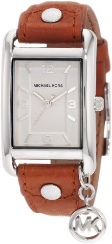 Michael Kors Women's MK2165 Leather Rectangle Charm Watch