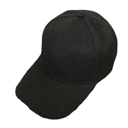 Baseball hop Hip Classic Black Cap Sunscreen Adjustable Solid Snapback  Plain Sport Women s Men s Colour Hat ... 9600533ab36