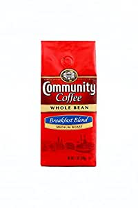 Community Coffee Whole Bean Coffee, Breakfast Blend, 12 oz., 3 Count