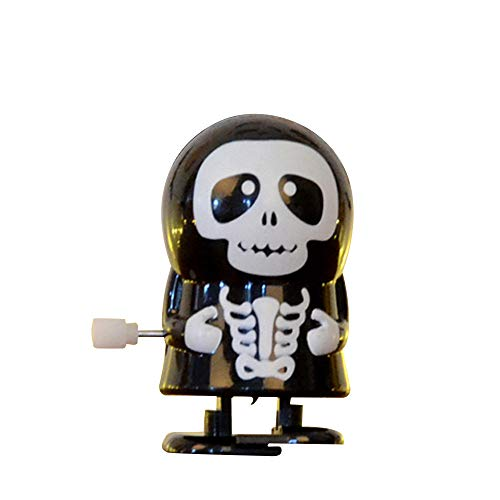 Liping Halloween Clockwork Gift Wind Up Bounce Toy Props Toy Jumping Pumpkin Monster Stress Reliever Toy Gift Toys (C) -