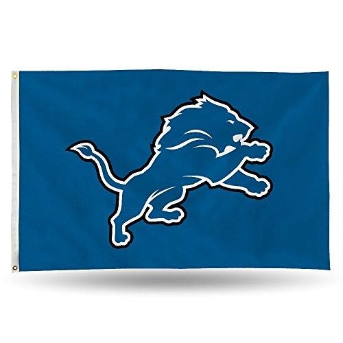 NFL Detroit Lions Flag with Grommets, 3 x 5-Feet ()