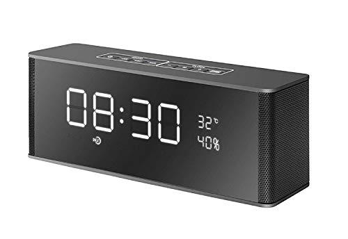 xingganglengyin Wireless Alarm Clock Smart Bluetooth Speaker with Card Subwoofer FM Multifunction Bluetooth Speaker by xingganglengyin (Image #6)