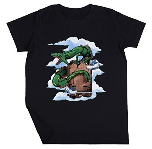 Smaragd Jongens Meisjes Unisex Kinderen Zwart T-shirt Lange Mouwen Boys Girls Unisex Kids Black T-shirt Long Sleeves