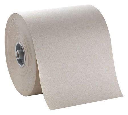 Brown Paper Towel Roll 7''W x 800'L, 6 Rolls by Tough Guy