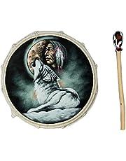 30 cm grote chamanenttrommel wolf met Indiaanse frametrommel Bodhran Drum Djembe