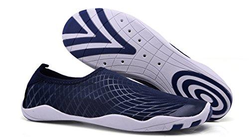 Sanyge Mens Womens Wasser Schuhe Beach Swim Schuhe Quick-Dry Aqua Socken Pool Schuhe für Surf Yoga Übung Navy1768