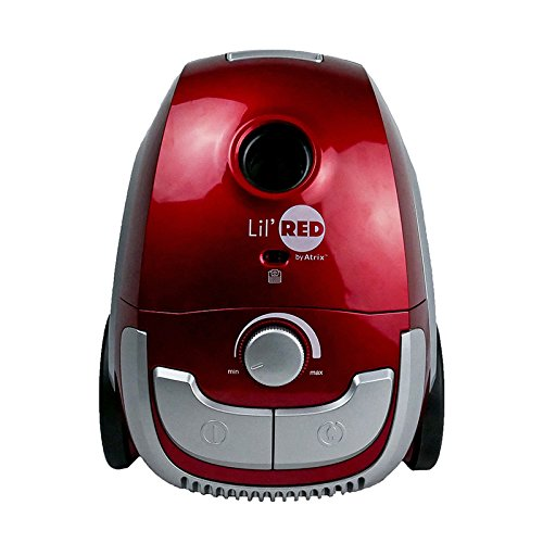 Atrix - AHSC-1 Lil Red Canister Vacuum - Portable Vac Cleaner w/ 2 Quart HEPA Filter & 3-Speed Variable Motor