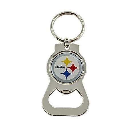 Amazon.com: NFL Pittsburgh - Llavero con abrebotellas de ...