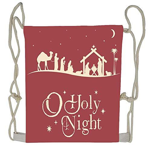 AoshangGardeflag Holy Christmas Nativity Scene Silhouette Family Manger Baby Religious Drawstring Bag Backpack for Boys Girls Casual Sackpack for $<!--$8.99-->