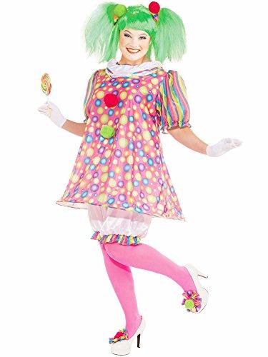 Forum Novelties Plus Size Tickles The Clown Costume
