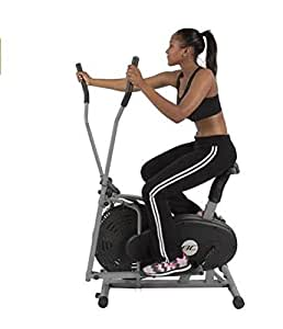 Fitness Equipment-Elliptical Bike For Fitness Training-2 IN 1 Cross Trainer Exercise Fitness Machine Home Gym Workout-, home gym-Provides a total body, low-impact, cardiovascular workout-Guaranteed!