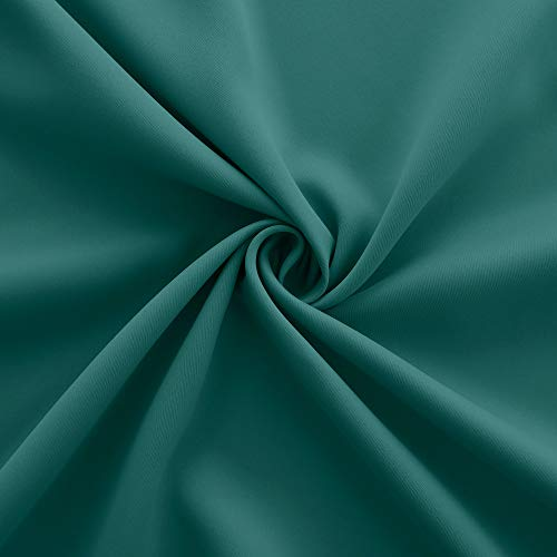 Dark Green Blackout Curtain Panel Grommet Set 2 Window Drapes Thermal Insulate Light Blocking Room Darkening Hunter Green Curtains for Bedroom Living Room 52 x 54 Inch Length Army Forest Emerald Decor