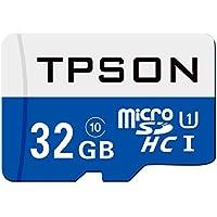Micro SD Card 32GB, TPSON Micro SDHC Class 10 UHS-1 Flash...