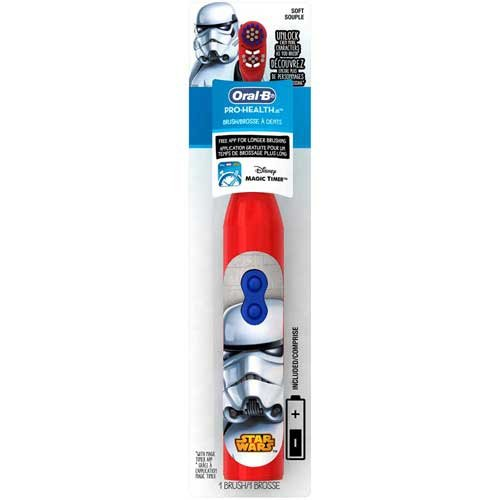 Oral B Pro Health Disney Star Wars Battery Power Electric Toothbrush for Kids -- 24 per case.
