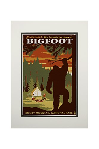 Rocky Mountain National Park, Colorado - Home of Bigfoot (11x14 Double-Matted Art Print, Wall Decor Ready to Frame) ()