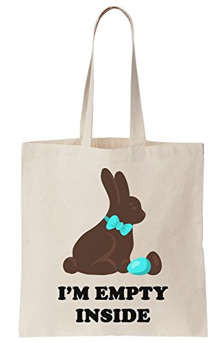 Bunny Artwork Bag Canvas Tote I'am Empty Inside Chocolate IwAPBStq