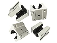 4 pcs SBR16UU SBR16 UU 16mm Linear Bearing Pillow Block 16mm Open Linear Bearing Slide Block CNC Router Parts by Lishui