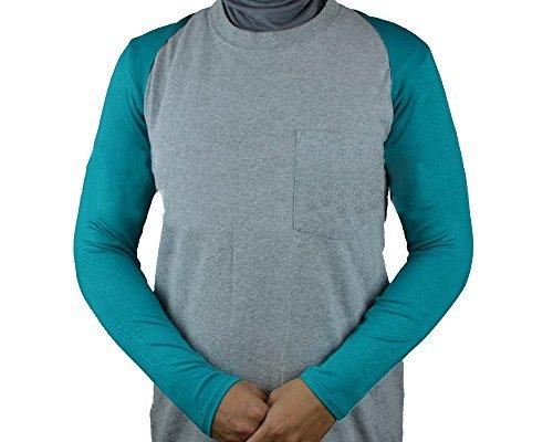 Hijab-ista - Sudadera - para mujer Azul - Azul verdoso