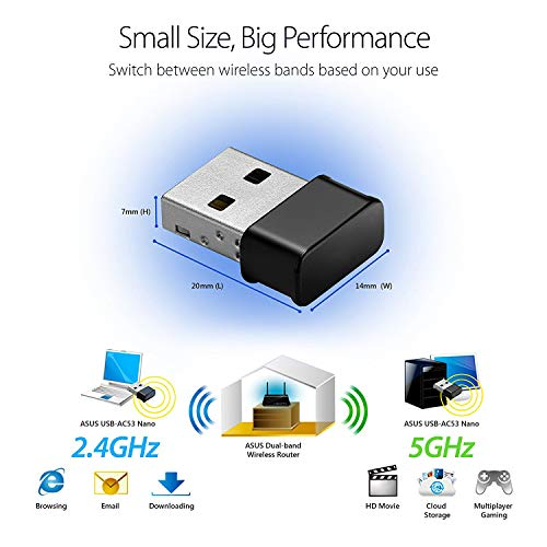 Mac OS X Maxesla USB Wifi Dongle Mini Wifi Adapter 1200M 802.11ac Dual Band 2.4//5GHz AC1200 Wireless Network Adapter for PC Desktop Laptop Compatible with Windows