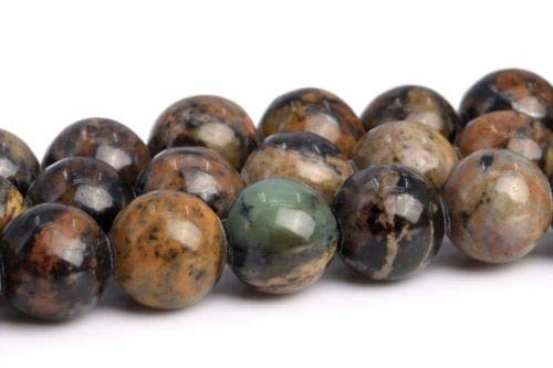(6mm Natural Artistic Jasper Grade Round Gemstone Loose Beads 15.5'' Crafting Key Chain Bracelet Necklace Jewelry Accessories Pendants)