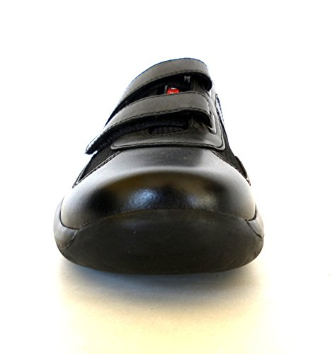 N Prada Nero F0002 Tessuto Sneakers Pelle Uomo In E Modello 4p0723 Scarpe 40 O0v q7prq